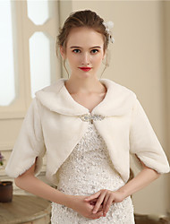 cheap -Faux Fur Wedding / Party / Evening Women's Wrap With Rhinestone / Fur Shrugs