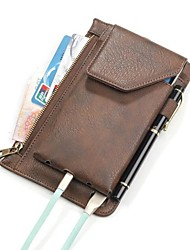 cheap -Case For Universal / Other Card Holder Pouch Bag Solid Color Soft PU Leather