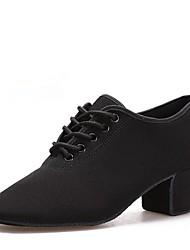 cheap -Women's Modern Shoes / Ballroom Shoes Oxford Lace-up Heel Cuban Heel Dance Shoes Black / Indoor / EU38