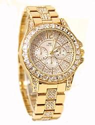 Недорогие -Жен. Часы со стразами Diamond Watch золотые часы Кварцевый Нержавеющая сталь Серебристый металл / Золотистый / Розовое золото 30 m Горячая распродажа Аналоговый Дамы Кулоны На каждый день Мода Bling