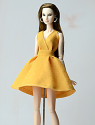 cheap -Doll Dress Dresses For Barbiedoll Toile Fashion Cloth Cotton Cloth Cloth Demin Dress For Girl's Doll Toy
