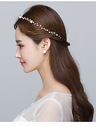 cheap -Pearl Headbands / Flowers with 1 Wedding / Special Occasion Headpiece
