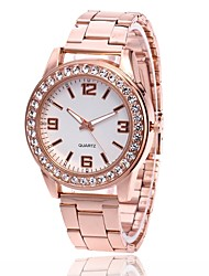 cheap -Men's Women's Wrist Watch Diamond Watch Gold Watch Quartz Metal Silver / Gold / Rose Gold Casual Watch Analog Charm Casual Simulated Diamond Watch - Gold Silver Rose Gold