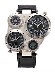 cheap -Men's Fashion Watch Dress Watch Wrist Watch Quartz Leather Analog White Black Brown