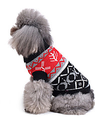 cheap -Cat Dog Sweater Dog Clothes Geometric Acrylic Fibers Costume For Spring &  Fall Winter Men's Women's Casual / Daily