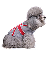 cheap -Dog Sweater Dog Clothes Geometic Acrylic Fibers Costume For Spring &  Fall Winter Men's Women's Casual / Daily