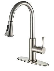 cheap -Kitchen faucet Nickel Brushed Centerset Contemporary Kitchen Taps / Brass High Arc
