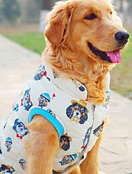 cheap -Dog Coat Jacket Vest Winter Dog Clothes Beige Costume Polyester Cartoon Casual / Daily XXL XXXL XXXXL XXXXXL XXXXXXL