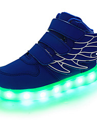 cheap -Boys' Sneakers LED / LED Shoes / USB Charging Leather Wings Shoes Little Kids(4-7ys) / Big Kids(7years +) Magic Tape / LED / Luminous White / Black / Red Spring / Fall / Rubber