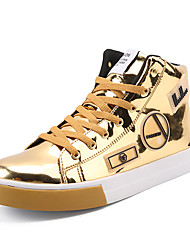 cheap -Men's Comfort Shoes Patent Leather Spring / Fall Sneakers Mid-Calf Boots Black / Gold / Silver / Party & Evening / Party & Evening / EU40