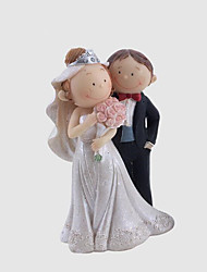 cheap -Cake Topper Fairytale Theme Wedding Sweet Style Simple Style Plastic Wedding Anniversary with 1 Gift Box