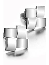 cheap -Geometric Silver Cufflinks Pattern Men's Costume Jewelry For