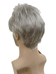 cheap -Synthetic Wig Wig Short Silver Synthetic Hair Men's White StrongBeauty