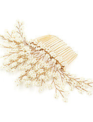 cheap -Imitation Pearl Hair Combs Flowers 1 Special Occasion Birthday Headpiece