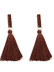 cheap -Women's Drop Earrings Tassel Long Ladies Tassel Fashion Earrings Jewelry Light Brown / Light Pink / Dark Brown For Gift Daily