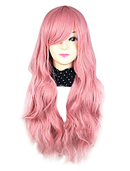 cheap -Cosplay Wigs Women's 30 inch Heat Resistant Fiber Pink Pink Anime