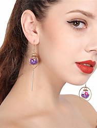 cheap -Women's Drop Earrings Hoop Earrings Mismatched Resin Earrings Jewelry Purple / Pink / Royal Blue For Christmas Daily
