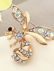 cheap -Women's Synthetic Diamond Brooches Animal Classic Rhinestone Brooch Jewelry Gold For Daily Stage