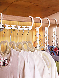 cheap -Household Plastic Save Space Non-slip Hangers Multifunction Fold Clothes Hanger Magic Hanger Useful