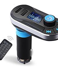 Недорогие -bluetooth mp3-плеер handsfree автомобильный комплект aux hands free fm передатчик с двойным usb mp3 sd lcd автомобильное зарядное