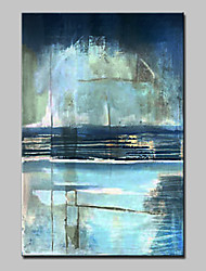 cheap -Hand-Painted Abstract Vertical,Abstract Modern 1pc Canvas Oil Painting For Home Decoration