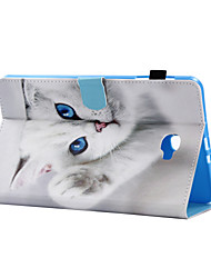 cheap -Case For Samsung Galaxy / Tab A 8.0 / Tab A 9.7 Tab E 9.6 / Tab E 8.0 / Tab A 10.1 (2016) Card Holder / with Stand / Flip Full Body Cases Cat Hard PU Leather