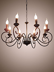 cheap -8-Light 70 cm Candle Style Chandelier Metal Traditional / Classic 110-120V / 220-240V