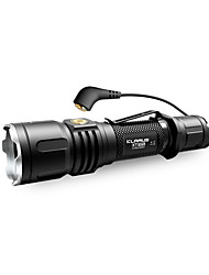 cheap -KLARUS XT12S LED Flashlights / Torch 1600 lm - Cree® Emitters Manual Mode Professional Easy Carrying Camping / Hiking / Caving Everyday Use Cycling / Bike Black