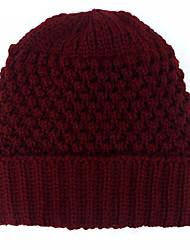 cheap -Women's Hat Pattern Stripes Knitwear Sweater Ski Hat-Solid Colored Knitting Winter Black Wine Purple
