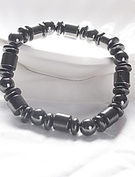 cheap -Men's Women's Bead Bracelet Magnetic Fashion energy Stone Bracelet Jewelry Black For Daily