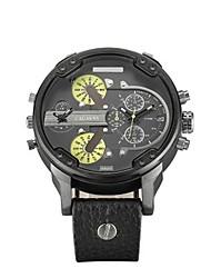 cheap -Men's Fashion Watch Dress Watch Wrist Watch Quartz Leather Analog Classic - Black Brown