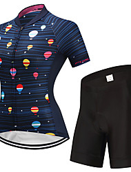 cheap -FUALRNY® Women's Short Sleeve Cycling Jersey with Shorts Blue Dots Bike Clothing Suit Quick Dry Sports Lycra Dots Mountain Bike MTB Road Bike Cycling Clothing Apparel / High Elasticity