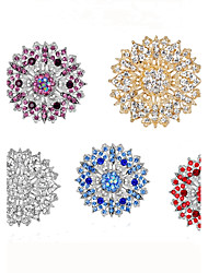 cheap -Women's Brooches Brooch Jewelry Purple Red Blue For Wedding Party