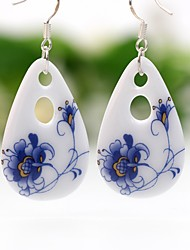 cheap -Women's Drop Earrings Hoop Earrings Drop Ladies Earrings Jewelry Blue For Party Going out