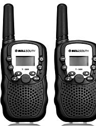 Недорогие -Bellsouth T388 ручной 2 шт. T-388 3-5 км 22 FRS и Gmrs UHF радио для ребенка рация двусторонней радиосвязи домофон