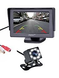 Недорогие -ZIQIAO 4.3 дюймовый TFT-LCD 170° Комплект заднего вида для автомобилей для Автомобиль