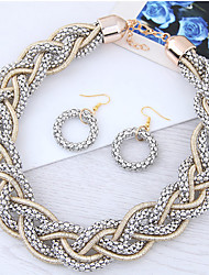 cheap -Women's Jewelry Set Ladies Fashion Earrings Jewelry Gold / Black / Gray For Party / Necklace