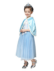 cheap -Princess Fairytale Elsa Cosplay Costume Party Costume Flower Girl Dress Kid's Girls' A-Line Slip Christmas Halloween Carnival Festival / Holiday Chiffon Flannel Toison Red / Blue Carnival Costumes