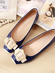 cheap -Women's Flats Glitter Crystal Sequined Jeweled Flat Heel Square Toe Pigskin Comfort Spring / Fall Almond / Pink / Blue / EU41