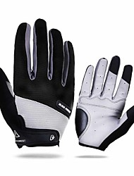 cheap -Winter Winter Gloves Bike Gloves / Cycling Gloves Mountain Bike MTB Thermal / Warm Breathable Anti-Slip Sweat-wicking Full Finger Gloves Sports Gloves Terry Cloth Black Red Blue for Adults' Outdoor