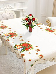 cheap -1pc Rectangular Disposable Table Cloth Christmas Tablecloth Printed Table Cover New Year Party Home Decoration