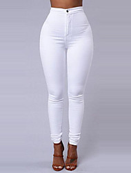 cheap -Women's Basic Daily Going out Slim Pants - Solid Colored Winter White Black Wine L XL XXL