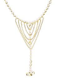 abordables -Chaînes Bracelets Bracelets Bagues Femme Géométrique Imitation de perle Strass Bling Bling Bracelet Bijoux Dorée Forme Géométrique pour Mariage Rendez-vous