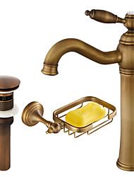 cheap -Faucet Set - Widespread Antique Copper Centerset Single Handle One HoleBath Taps