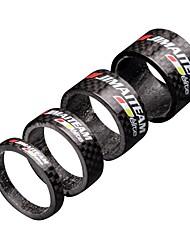 Недорогие -Шайба на вилку Жесткие вилы Передняя вилка с амортизацией 1 mm Углеродное волокно для Велоспорт Шоссейный велосипед Горный велосипед Черный Полированный