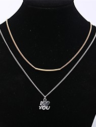 cheap -Women's Pendant Necklace Heart Basic Fashion Alloy Silver Necklace Jewelry 1pc For Daily Casual