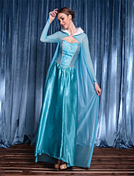 cheap -Princess Goddess Elsa Festival / Holiday Poly / Cotton Blue Carnival Costumes Solid Color