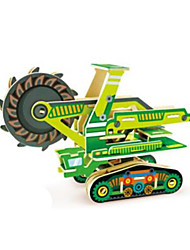 cheap -RUOTAI 3D Puzzle Vehicles Excavating Machinery Wooden 1 pcs Underground - Hard Rock Kid's Adults' Toy Gift