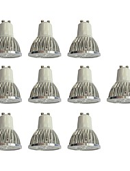 cheap -10pcs 4 W LED Spotlight 360 lm GU10 4 LED Beads High Power LED Dimmable White 110-120 V