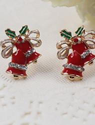 cheap -Women's Stud Earrings Tree of Life Ladies Sweet Hip-Hop Rhinestone Earrings Jewelry Gold For Christmas Street
